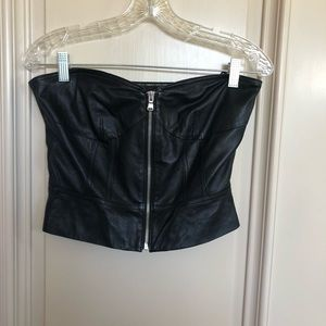 Marc by marc jacobs leather bustier